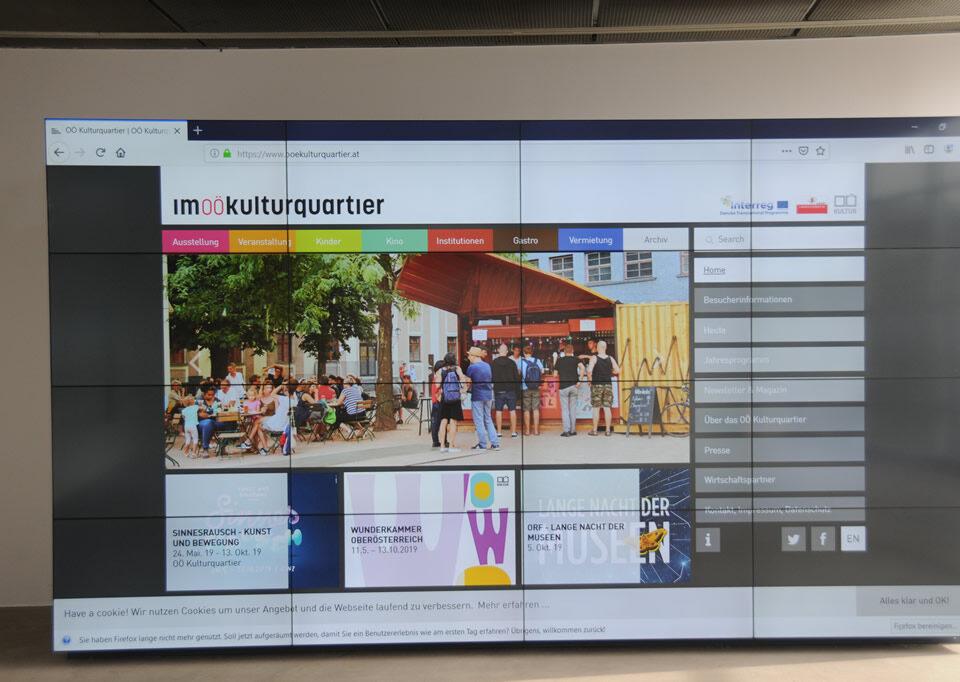 OÖ Kulturquartier Split Videowall