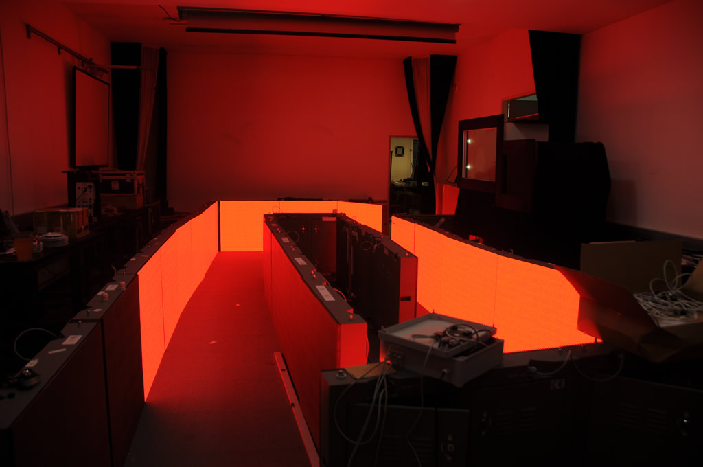 Die erste LED-Wand