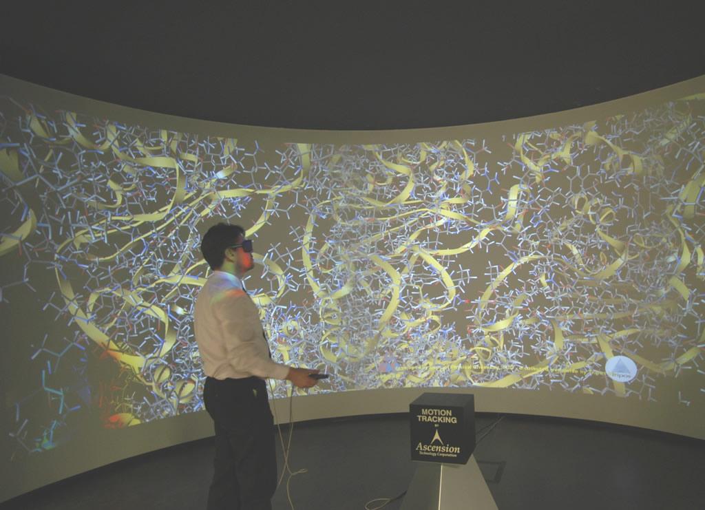 3D-Projektion für die Kepler Universität Linz